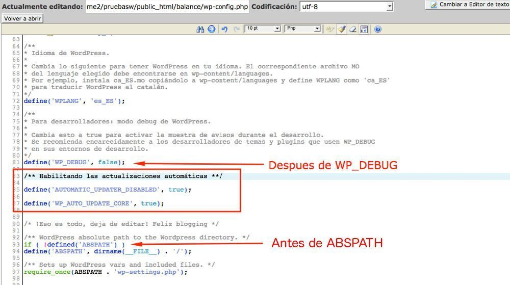 No quieres que WordPress se actualice automáticamente? ¡desactivalo!