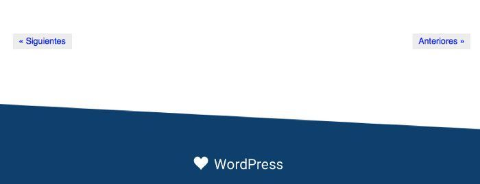 Paginación por defecto de WordPress