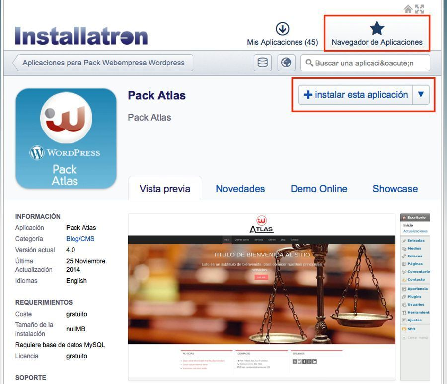 Instala WordPress en un subdominio de tu Hosting