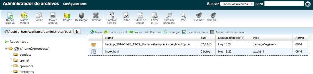 Tu sitio WordPress tiene problemas? restaura la última copia de ...