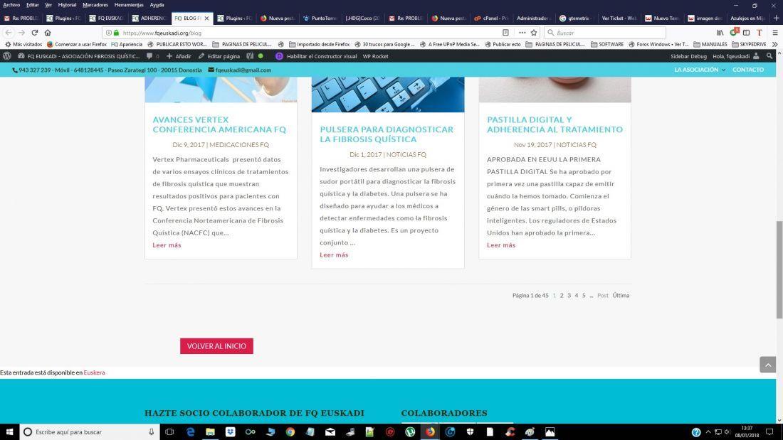 PROBLEMAS Visualización imagen destacada páginas blog