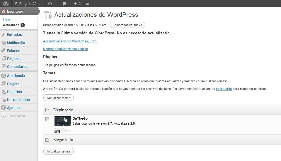 Traducción incompleta de wordpress