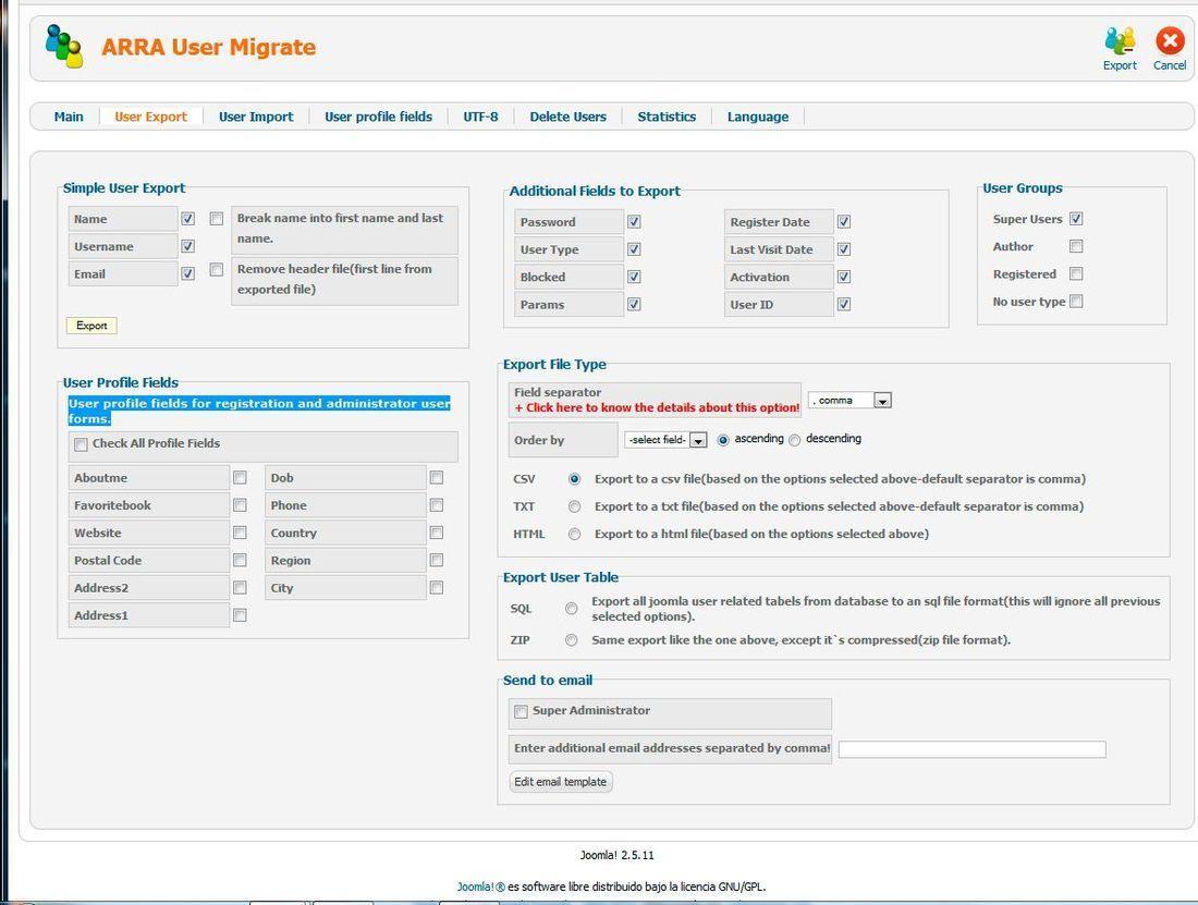 Exportar e importar base de datos (1/2)