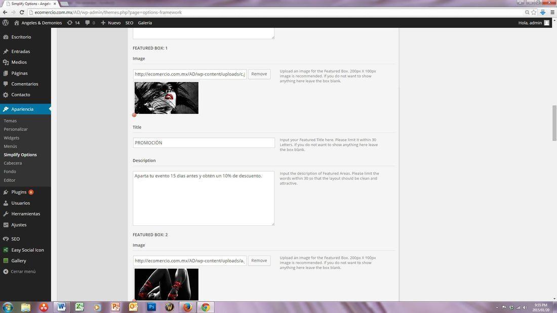 wordpress modificar colocar un link en la imagen de un tema