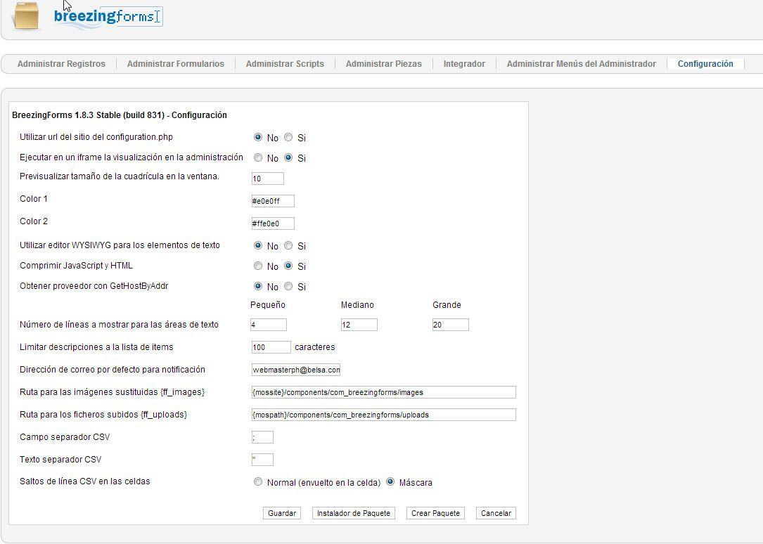 Vincular formulario contacto a mi cuenta de correo