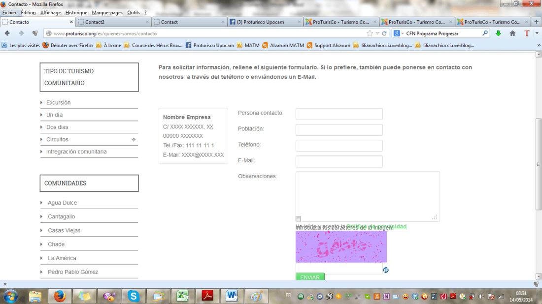 formulario de contacto breezingforms en plantilla Gantry Helena ...
