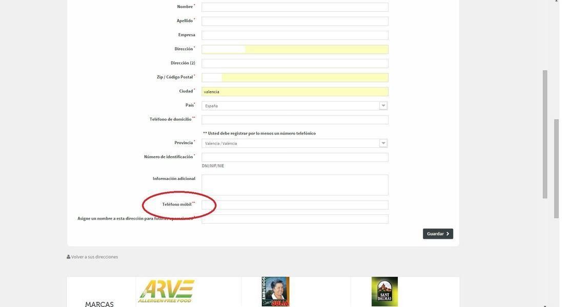 cambiar texto campo formulario