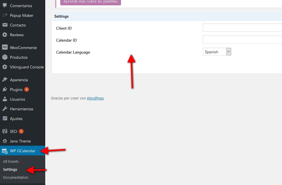Insertar calendario de Google en una página y en blog