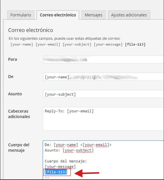 Contact Form 7 | No llega el archivo adjunto en el email