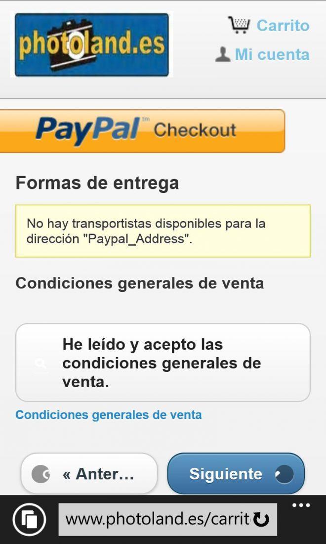Modulo PayPal en Prestashop