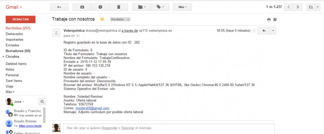 formulario breezing recibo 2 mail y ninguno con el archivo adjunto ...