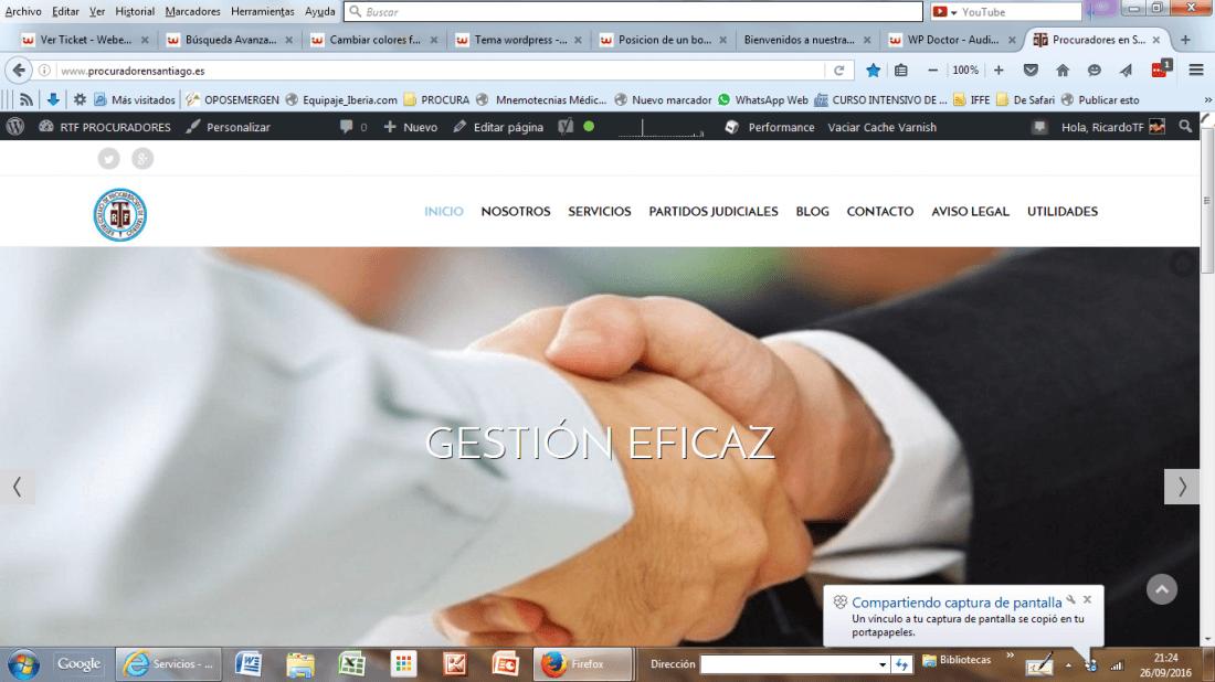 Modificar pagina de inicio - tema ARES