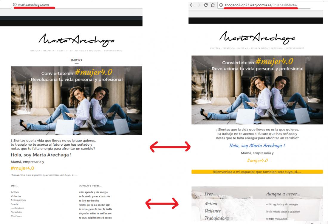 No aplica los estilos a la web tras la migración a otro entorno