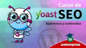 Curso de Yoast SEO en WordPress - Apariencia y contenidos