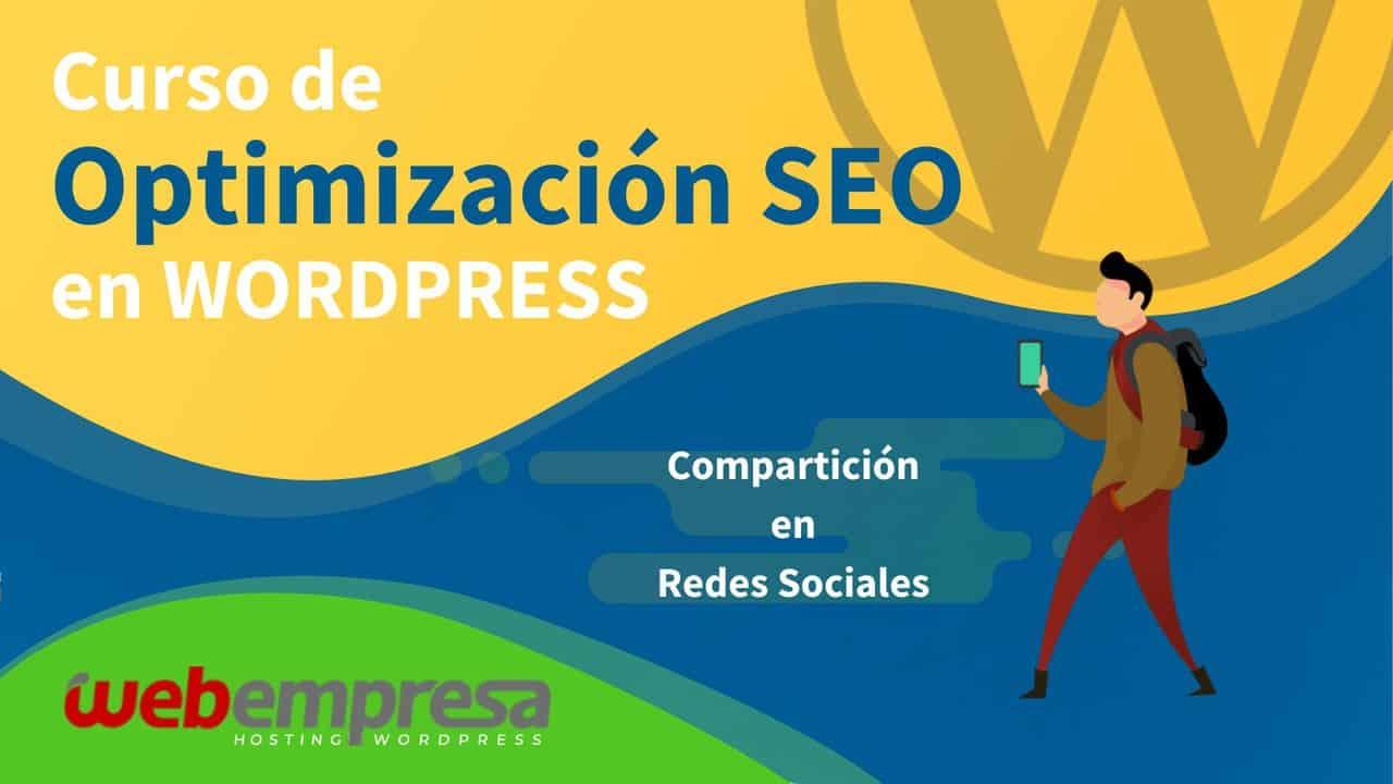 Curso de Optimización SEO en WordPress - Compartición en Redes Sociales