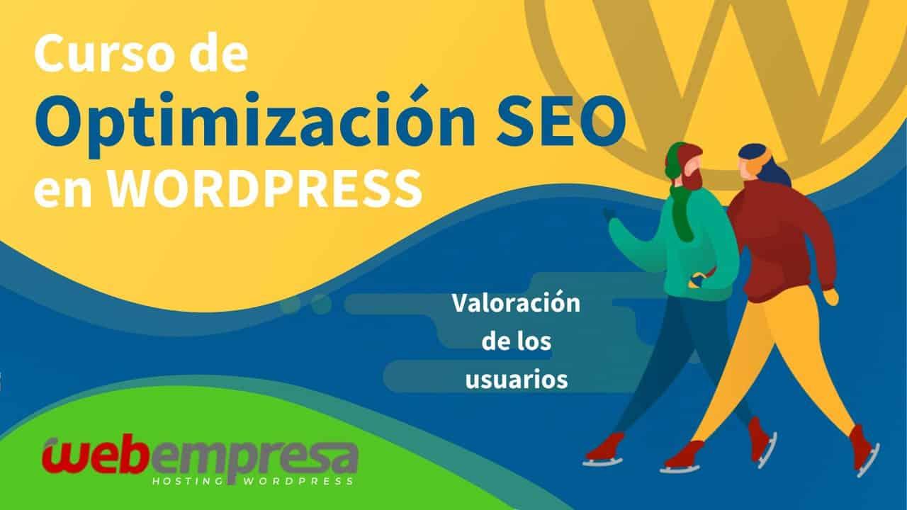 Curso de Optimización SEO en WordPress - Valoración de los usuarios