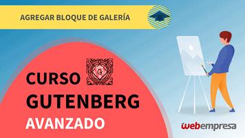Curso de Gutenberg Avanzado - Agregar bloque de galería