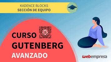 Curso Gutenberg Avanzado - Kadence Blocks - Sección de Equipo