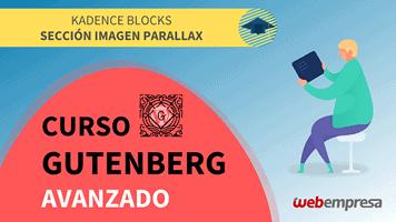 Curso Gutenberg Avanzado - Kadence Blocks - Sección Imagen Parallax