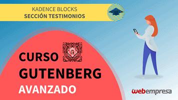 Curso Gutenberg Avanzado - Kadence Blocks - Sección Testimonios