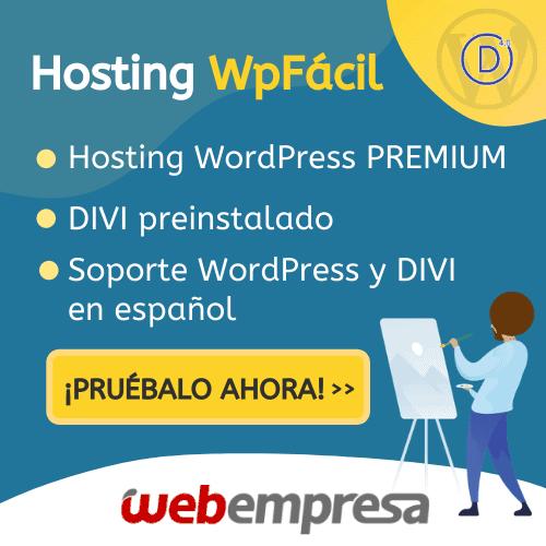 Hosting WpFácil con Divi Webempresa