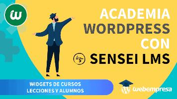 Crear Academia online con WordPress - Widgets de Cursos, Lecciones y Alumnos