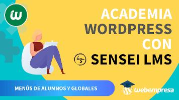 Crear Academia online con WordPress - Menús de alumnos y globales