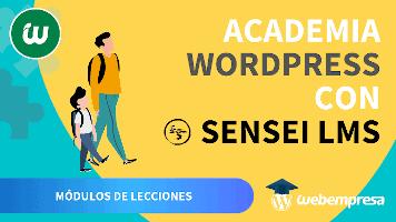 Crear Academia online con WordPress - Módulos de Lecciones