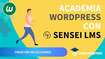 Crear Academia online con WordPress - Creación de Lecciones