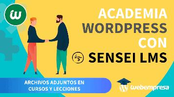 Crear Academia online con WordPress - Archivos adjuntos en Cursos y Lecciones
