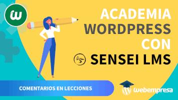 Crear Academia online con WordPress - Comentarios en Lecciones