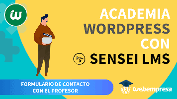 Crear Academia online con WordPress - Formulario de Contacto con el Profesor