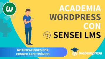 Crear Academia online con WordPress - Notificaciones por correo electrónico