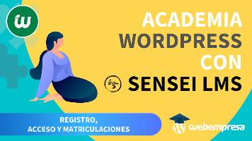 Crear Academia online con WordPress - Registro, Acceso y Matriculaciones