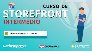 Curso de Storefront Intermedio - Añadir posición Top Bar