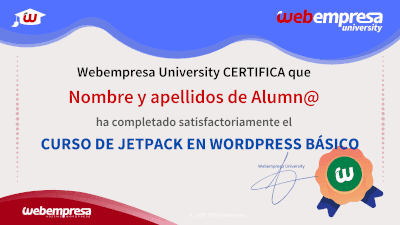 Webempresa University - Curso de JetPack en WordPress básico