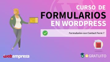 Curso de Formularios en WordPress - Formularios con Contact Form 7