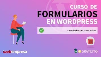 Curso de Formularios en WordPress - Formularios con Form Maker