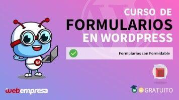 Curso de Formularios en WordPress - Formularios con Formidable