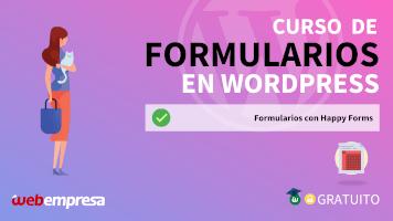 Curso de Formularios en WordPress - Formularios con Happy Forms