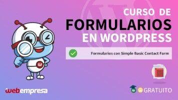 Curso de Formularios en WordPress - Formularios con Simple Basic Contact Form