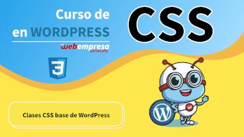 Curso de CSS en WordPress - Clases CSS base de WordPress