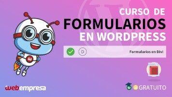 Curso de Formularios en WordPress - Formularios en Divi