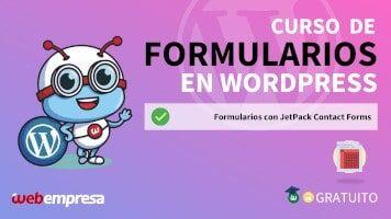 Curso de Formularios en WordPress - Formularios con JetPack Contact Forms