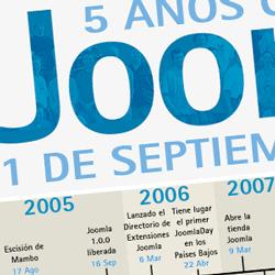 5 años con Joomla