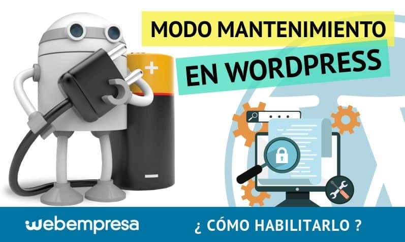 Modo Mantenimiento en WordPress