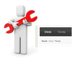 Cambiar el texto del módulo de ruta en Joomla