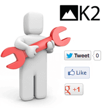 Cambiar idioma ingles de iconos redes sociales k2
