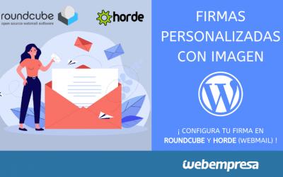 Crear firmas personalizadas con imagen en Webmail (RoundCube y Horde)