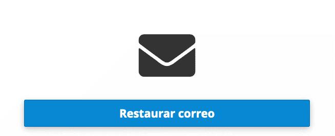 opción 3 restaurar correo